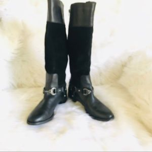 Etienne Aigner Tall Black Leather boots